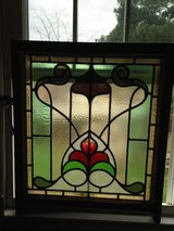 Large English Leaded Stain Glass Window in Cherry Point, North Carolina