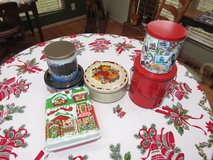 Assortment of Christmas Cookie/Candy Tins in Aurora, Illinois