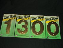 """Solid Brass 5"""" Numbers 1 3 0 0 NEW in Aurora, Illinois"""