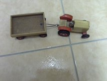 small kids wooden tractor with trailer in Ramstein, Germany