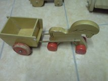 kids wooden horse with carriage in Ramstein, Germany