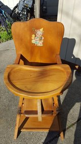 Vintage Convertible Highchair Table in Fairfield, California