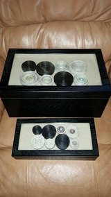 Black / Glass 2 Piece Jewlry Box Set in Fort Campbell, Kentucky