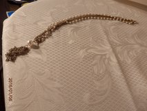 """15"""" Vintage Goldtone and Pearl Necklace with  Tassle in Chicago, Illinois"""