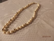 """16"""" Goldtone and Cream Necklace in Chicago, Illinois"""