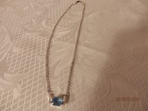 """16"""" Silver Chain with Blue Topaz in Chicago, Illinois"""