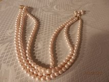 """16"""" Triple Strand Pink Faux Pearls in Chicago, Illinois"""