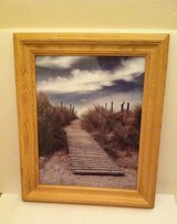 Dock Picture in Light Oak Frame in Chicago, Illinois