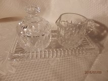 Crystal Cream and Sugar on Crystal Tray in Naperville, Illinois