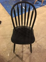 Black desk/dining/general purpose wood chair in Joliet, Illinois