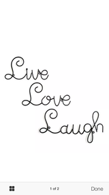 Live,Love, Laugh Deco New in Box in Fort Campbell, Kentucky