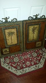 Pier 1 / Iron / 2 Piece Palm Tree Picture Set in Clarksville, Tennessee