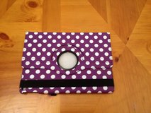 New iPad Air purple polka dot case in Oswego, Illinois