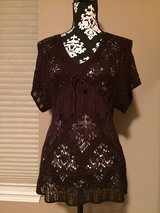 NEW! Crochet LRG Knit Brown Shirt in Naperville, Illinois