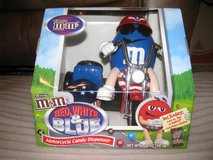 M & M Red White & Blue Motorcycle candy dispenser in Byron, Georgia