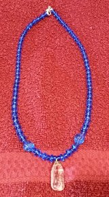 "Handcrafted Beaded Necklace, Crystal Blue Persuasion, 18"" Long in 29 Palms, California"