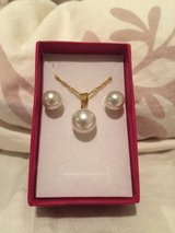 Pearl necklace and earrings in Okinawa, Japan