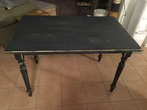 Black Distressed Table in Yorkville, Illinois