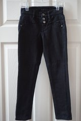 Girls Justice Black Knit Jegging Size 7R in Plainfield, Illinois