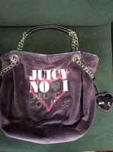 Juicy Couture LOVE PLUMES Velour Chain Tote Bag PURPLE(purse) in Plainfield, Illinois