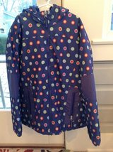Girls Lands End Winter Jacket - Purple Polka Dot Size 10 in Chicago, Illinois