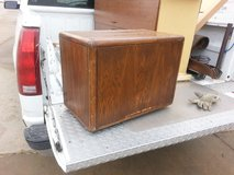 wood lil table on rollers in Fort Riley, Kansas