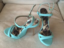 Snake Print Open Toe Ankle Strap Platform Pumps - size 7 - brand new in 29 Palms, California