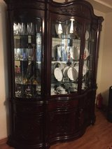 Rosewood French style China cabinet in Okinawa, Japan