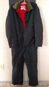 1970's Walls Blizzard-Pruf Insulated Blue Jumpsuit / Men's Large Tall (T=43) in Fort Campbell, Kentucky
