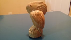 Hand carved stone bird in St. Charles, Illinois