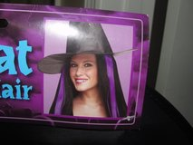 NEW WITH TAGS HALLOWEEN WITCH HAT WITH PURPLE HAIR ATTACHED in Camp Lejeune, North Carolina