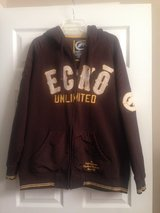 Mens Brown Ecko Zip Hoodie in Fort Riley, Kansas