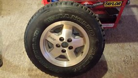 (1) Brand New 215/75/15 Goodyear Wrangler on Jeep rim in Camp Lejeune, North Carolina