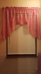 Pink Bathroom Curtain in Fort Riley, Kansas