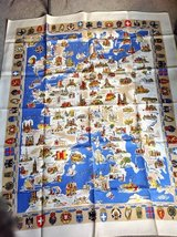 Map of Europe tablecloth, Linen in Naperville, Illinois