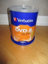 DVD-R Verbatim 100 pack NEW Sealed 4.7GB 16x Speed 120 min in Plainfield, Illinois