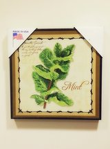 Mint Herb Wall Art Decoration in Naperville, Illinois