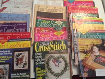 23 just cross stitch mags w/binder in Naperville, Illinois