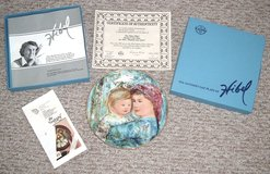 "ONLY $1 Vintage 1991 Edna Hibel Mothers Day Plate ""Michelle & Anna"" w Box & Authenticity Certifi... in Yorkville, Illinois"
