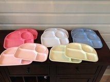 Pottery Barn Kids Divided Meamine Plares - Assorted Colors in Glendale Heights, Illinois