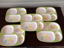 Set of 5 Divided Easter Plates for Kids - Melamine in Bolingbrook, Illinois