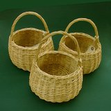 "VTG OVAL WICKER / WILLOW  BASKET 8"" HI in St. Charles, Illinois"