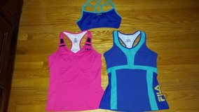3 woman exercise tops- fila brand-size m in Wilmington, North Carolina