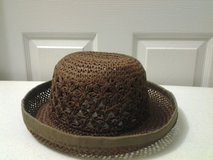 Brown Soft Straw Woven Hat in Eglin AFB, Florida