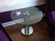 Chrome & Glass Accent Table in Naperville, Illinois