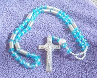 Beautiful  Catholic aqua blue beads rosary with silver tone cross in Alamogordo, New Mexico