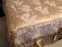 Full Bed NEW USA CUSTOM Quilted Att Coverlet Toast Bedspread 2Match PSham BELOW COST in Wilmington, North Carolina