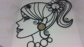"""Glamour Girls Wall Hanging Metal Decorative """"Clair"""" in Tinley Park, Illinois"""