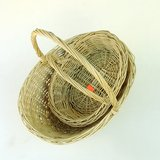 VTG OVAL WILLOW WICKER BASKETS: SET of 2 in Westmont, Illinois