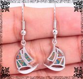 New - Sail Boat Orange Fire Opal Earrings in Alamogordo, New Mexico